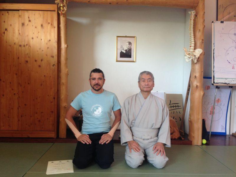 Maurizio Cioria con il M° Yuji Yahiro