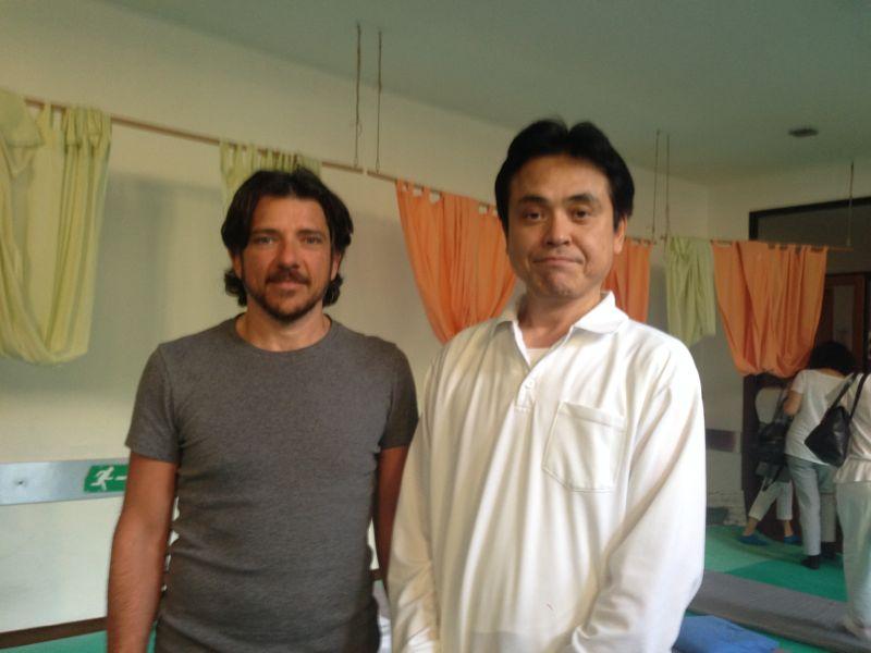 Maurizio Cioria con il M° Haruiko Masunaga